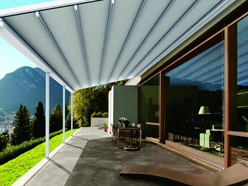 室外轨道式折叠天棚